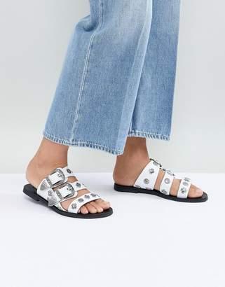 Sol Sana Eastwood White Slides