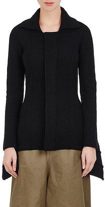 Yohji Yamamoto Women's Purl-Stitched Zip-Front Jacket-BLACK $769 thestylecure.com