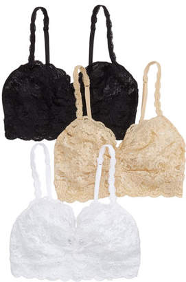 Cosabella 3-Pack Never Say Never Sweetie Lace Soft Bras