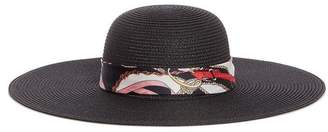 Quiz Black Chain Print Scarf Beach Hat