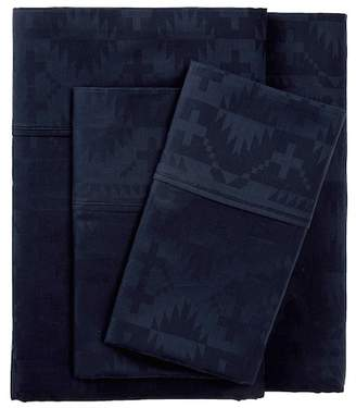 Pendleton Spider Rock Jacquard King Sheet Set - Navy