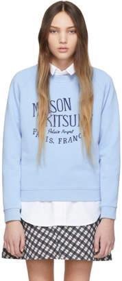 MAISON KITSUNÉ Blue Palais Royal Logo Sweatshirt