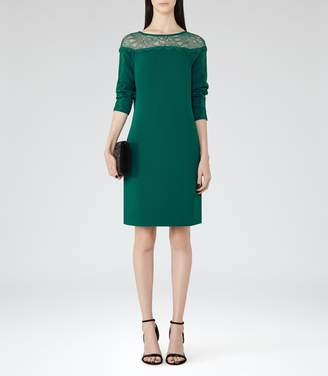 Reiss Claudia Lace-Detail Shift Dress
