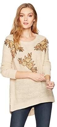 Ella Moon Women's Lucca Applique Pullover Sweater