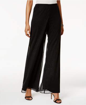 MSK Petite Mesh Sparkle Wide-Leg Pants