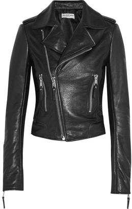 Balenciaga - Textured-leather Biker Jacket - Black $2,745 thestylecure.com