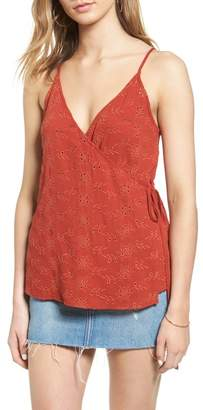 ASTR the Label Wrap Eyelet Camisole