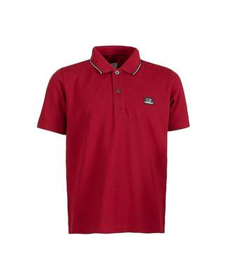 C.P. Company Undersixteen Undersixteen Polo Shirt Colour: DARK RED, Size: Age 8