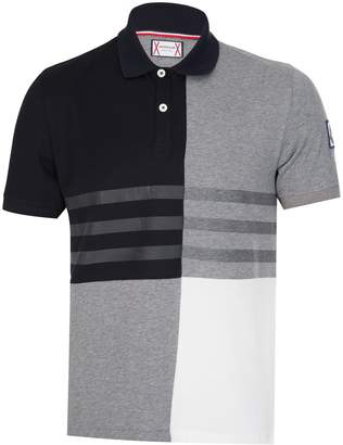 MONCLER Gamme Bleu Block Stripe Polo