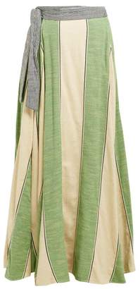 Ace&Jig Sangria Striped Cotton Wrap Skirt - Womens - Green