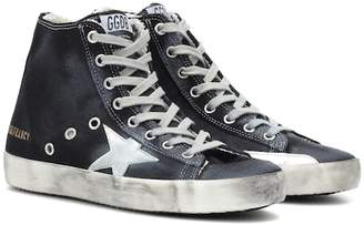 Golden Goose Francy high-top denim sneakers