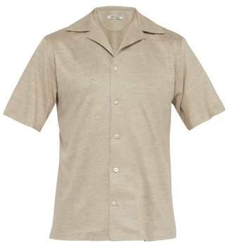BEIGE Hecho - Short Sleeved Linen Shirt - Mens