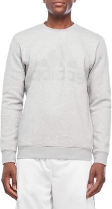 adidas Mesh Logo Pullover Sweater