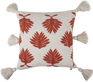 Casa Amarosa Rust Tufted Petal Throw Pillow