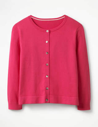 Boden Favourite Crew Neck Cropped Cardigan