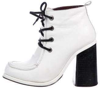 Opening Ceremony Leather Round-Toe Booties