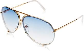Porsche Design P8478 W Titanium Sunglasses | Frame | Blue/Brown Lensess