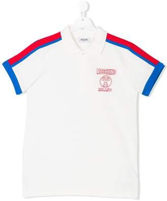 Moschino Kids embroidered logo polo shirt