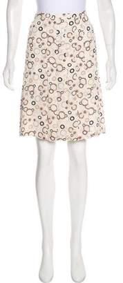 Loro Piana Silk Knee-Length Skirt