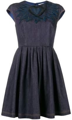 Fendi chambray heart mini dress