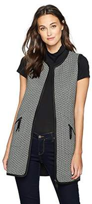 Max Studio Women's Check Quilted Knit Vest