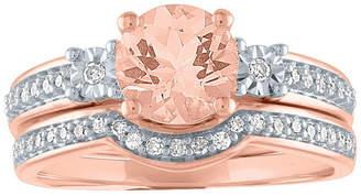 FINE JEWELRY Modern Bride Gemstone Womens 1/5 CT. T.W. Genuine Pink Morganite 10K Rose Gold Bridal Set