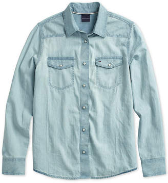 Tommy Hilfiger Women's Western Denim Shirt from The Adaptive Collection