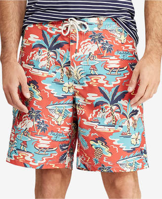 Polo Ralph Lauren Men's Big & Tall Kailua Tropical Swim Trunks