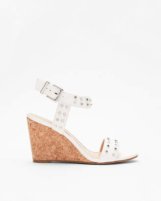 Express Studded Dressy Wedge Sandals