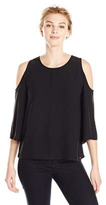Lark & Ro Women's Cut Out Shoulder Blouse