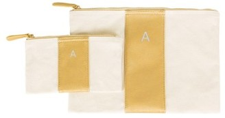 Cathy'S Concepts Personalized Faux Leather Clutch - Metallic $39 thestylecure.com