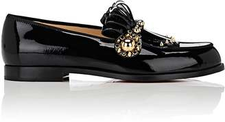 Christian Louboutin Women's Octavian Patent Leather Loafers $895 thestylecure.com