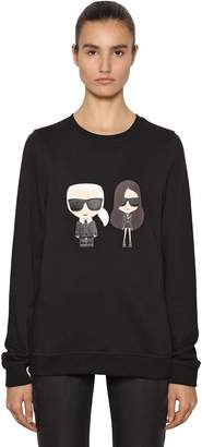 Karl Lagerfeld And Kaia Print Cotton Sweatshirt