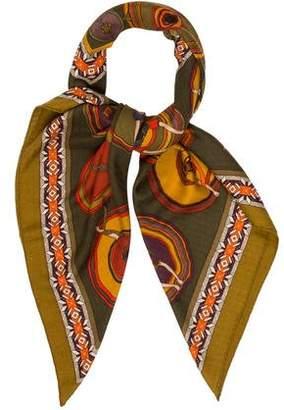 Hermes Belles Du Mexique Cashmere Silk Shawl