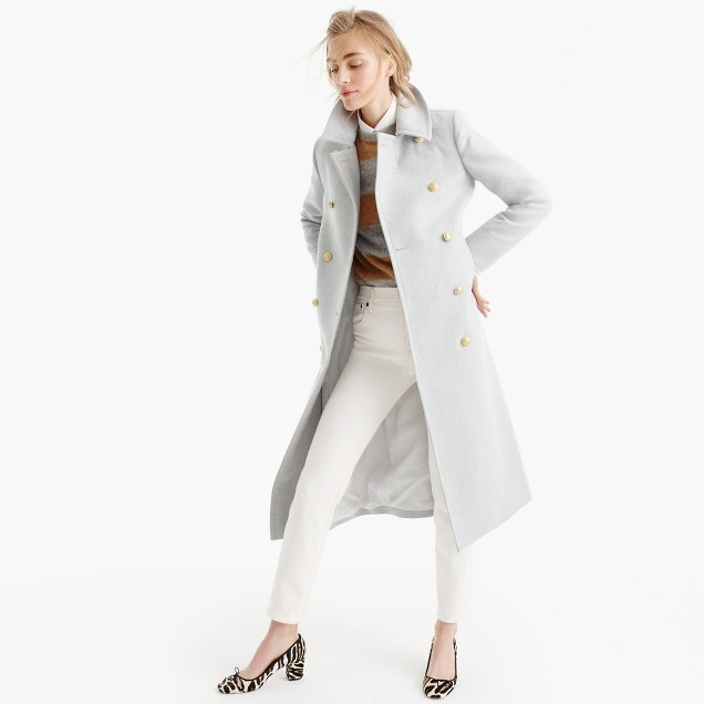 J.CrewDouble-breasted topcoat in wool-cashmere