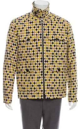 Bottega Veneta Printed Harrington Jacket
