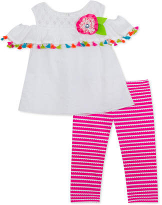 f8431cd79cd77 Rare Editions Baby Girls 2-Pc. Cold-Shoulder Top & Leggings Set