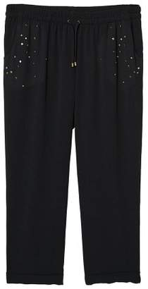 Violeta BY MANGO Stud baggy trousers