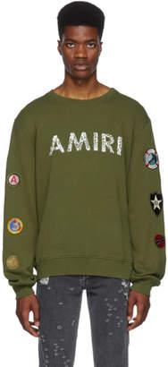 Amiri Green Patch Sweatshirt
