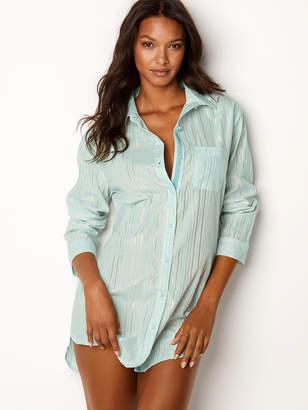 Victoria's Secret Victorias Secret Lightweight Button-front Sleepshirt