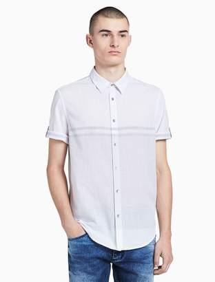 Calvin Klein horizontal stripe short sleeve shirt