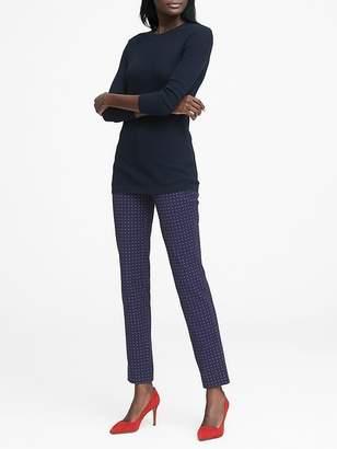Banana Republic Sloan Skinny-Fit Print Ankle Pant