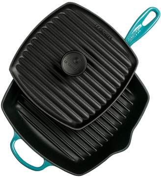"""Le Creuset 10.25"""" Panini Press and Skillet Grill Set (2 PC)"""