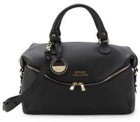 Versace Leather Zip-Front Satchel