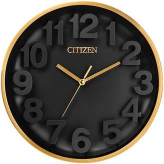 Citizen (シチズン) - Citizen Gallery Gold-Tone & Black Wall Clock