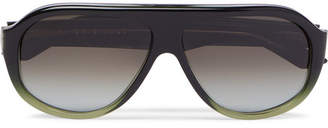Kirk Originals Reed Aviator-Style Acetate Sunglasses