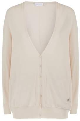 Escada Sport Cotton-Blend Fine Knit Cardigan