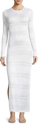 Melissa Odabash Melissa Crewneck Long-Sleeve Crochet Lace Maxi Dress