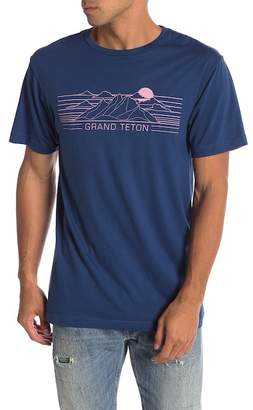 Body Rags Short Sleeve Grand Teton Lines Tee