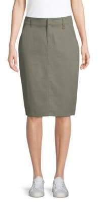 Donna Karan Classic Knee-Length Cargo Skirt